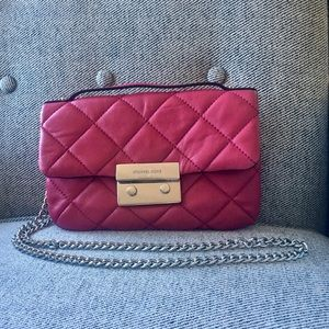 Michael Kors Red Sloan Deep Leather quilted bag